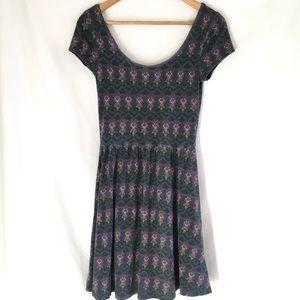 Mossimo art nouveau print dress
